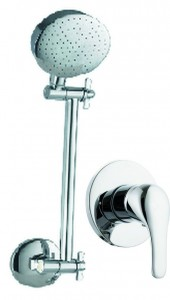 shower arm and rose plus mixer