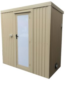outdoor bathroom no chassis